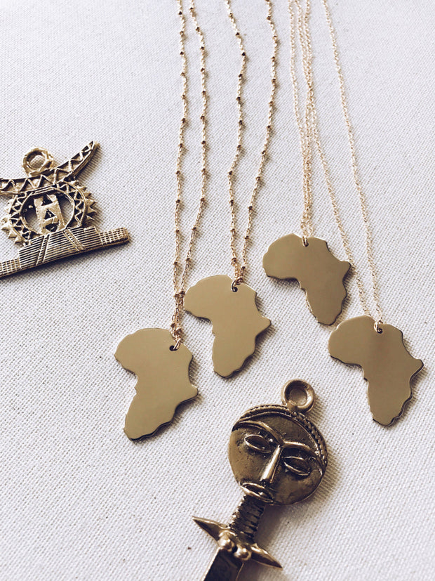 Deeply Rooted Africa Gold Filled Necklace