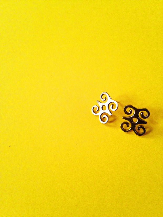DWENNIMMEN Adinkra Stud Earrings// African Symbol Earrings