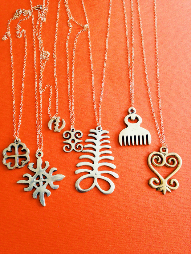 Adinkra African Symbol Gold Filled Necklace