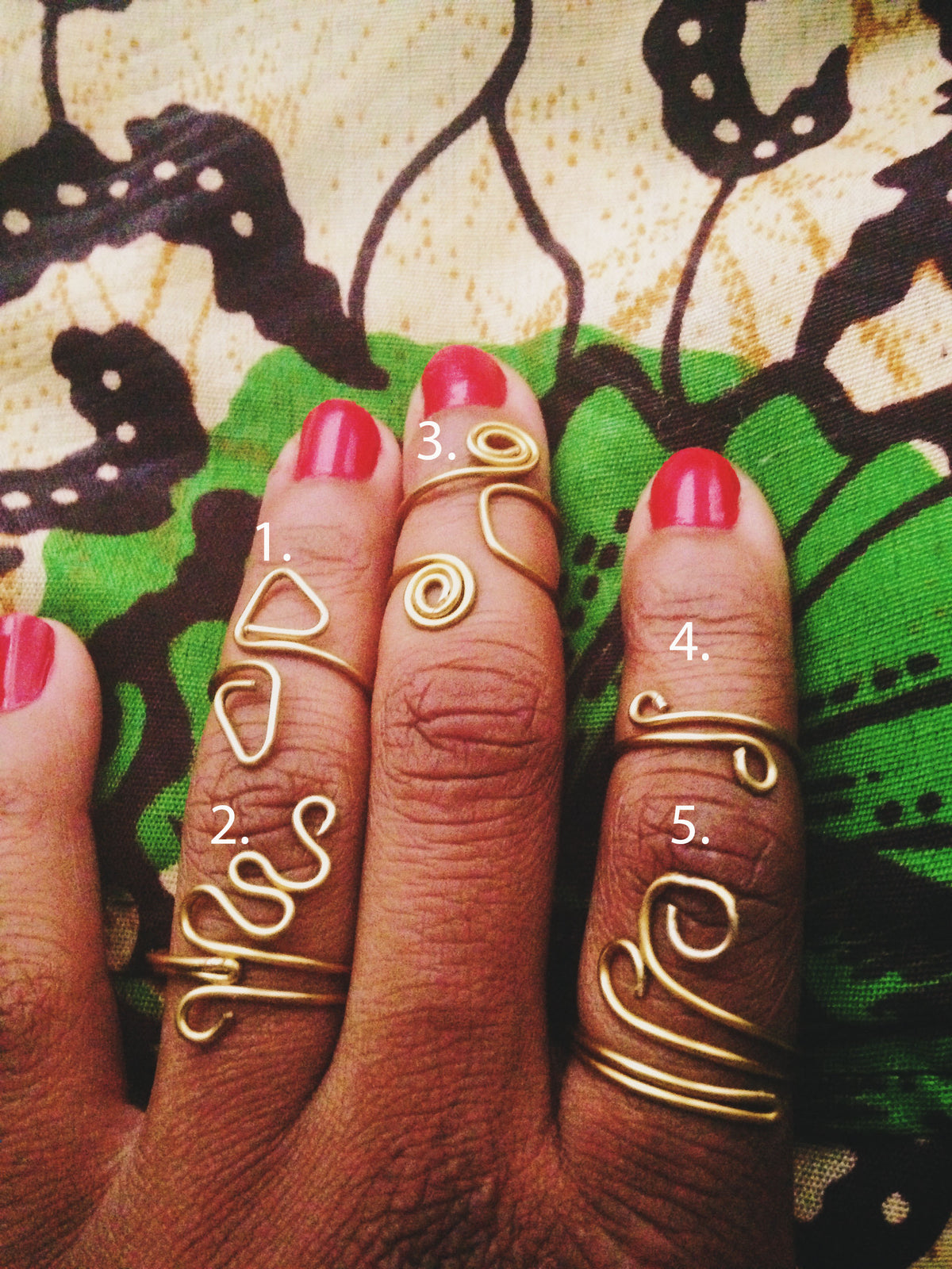 Gold Henna Rings // Brass Wire Rings