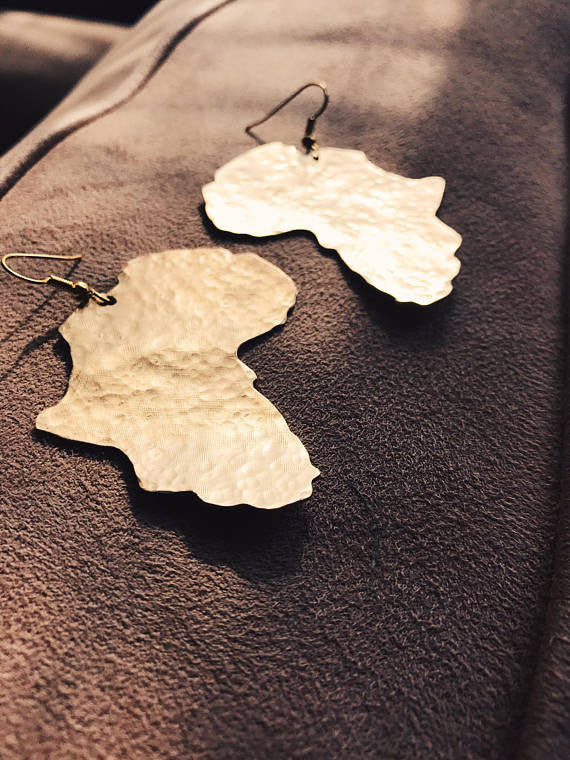 Hammered Africa Earrings
