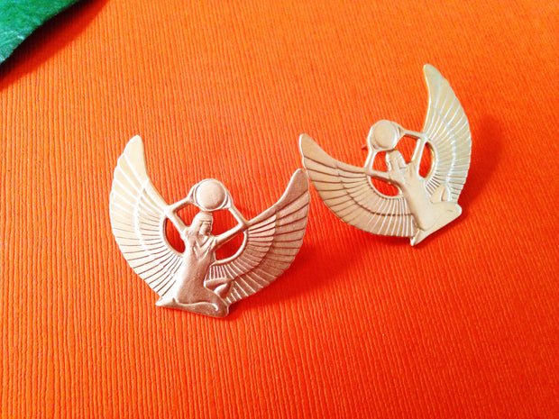 Isis Goddess Stud Earrings // Egyptian Deity