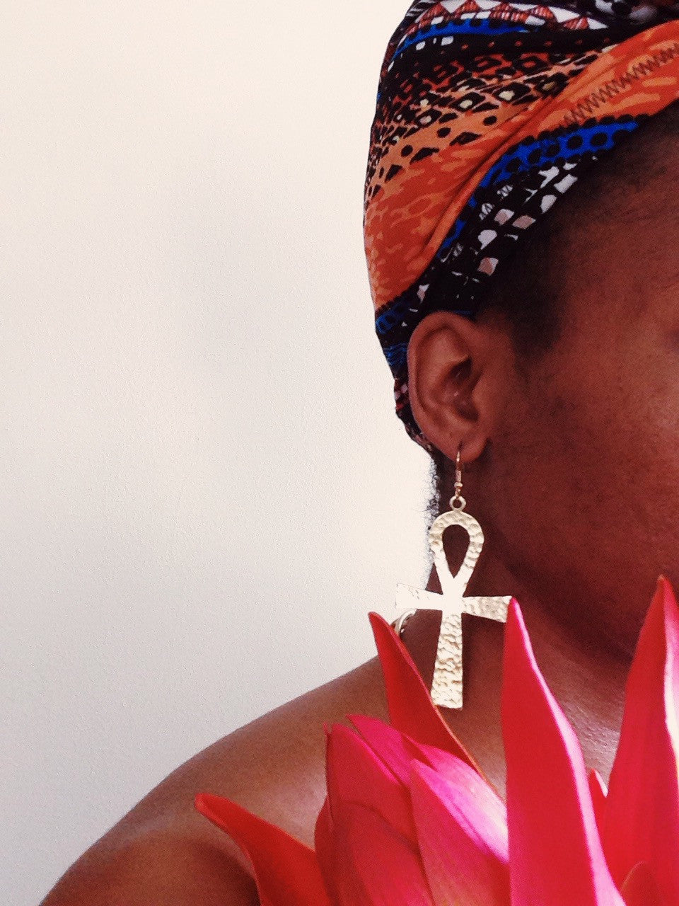Large Ankh Dangle Earrings // Key of Life