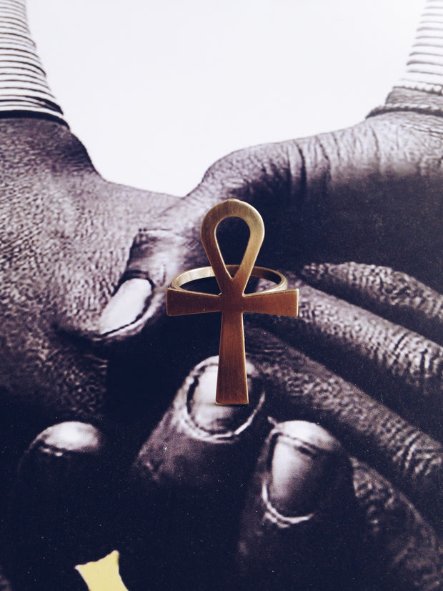 Large Ankh Ring// Key of Life