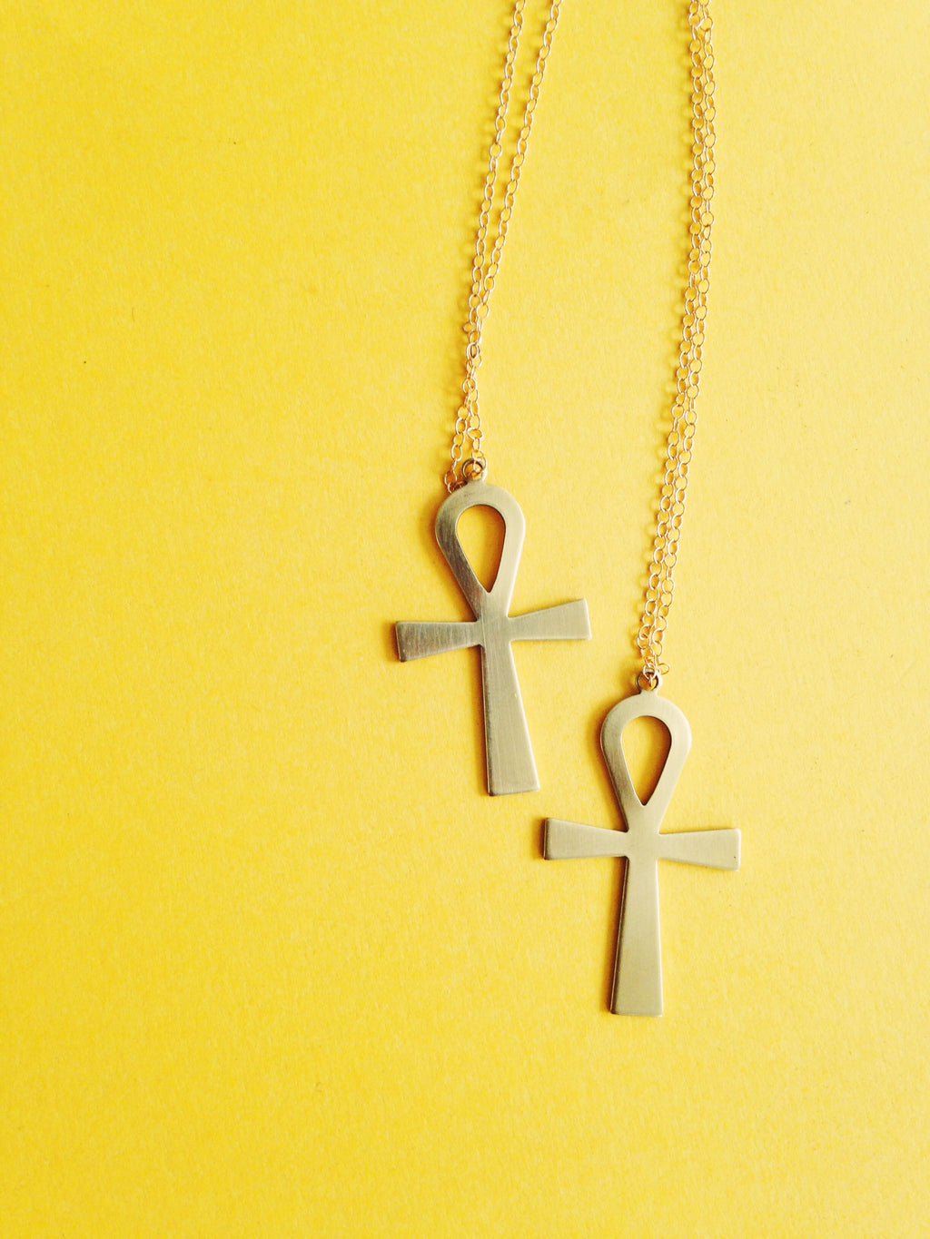 Large Ankh Gold Filled Necklace // Key of Life