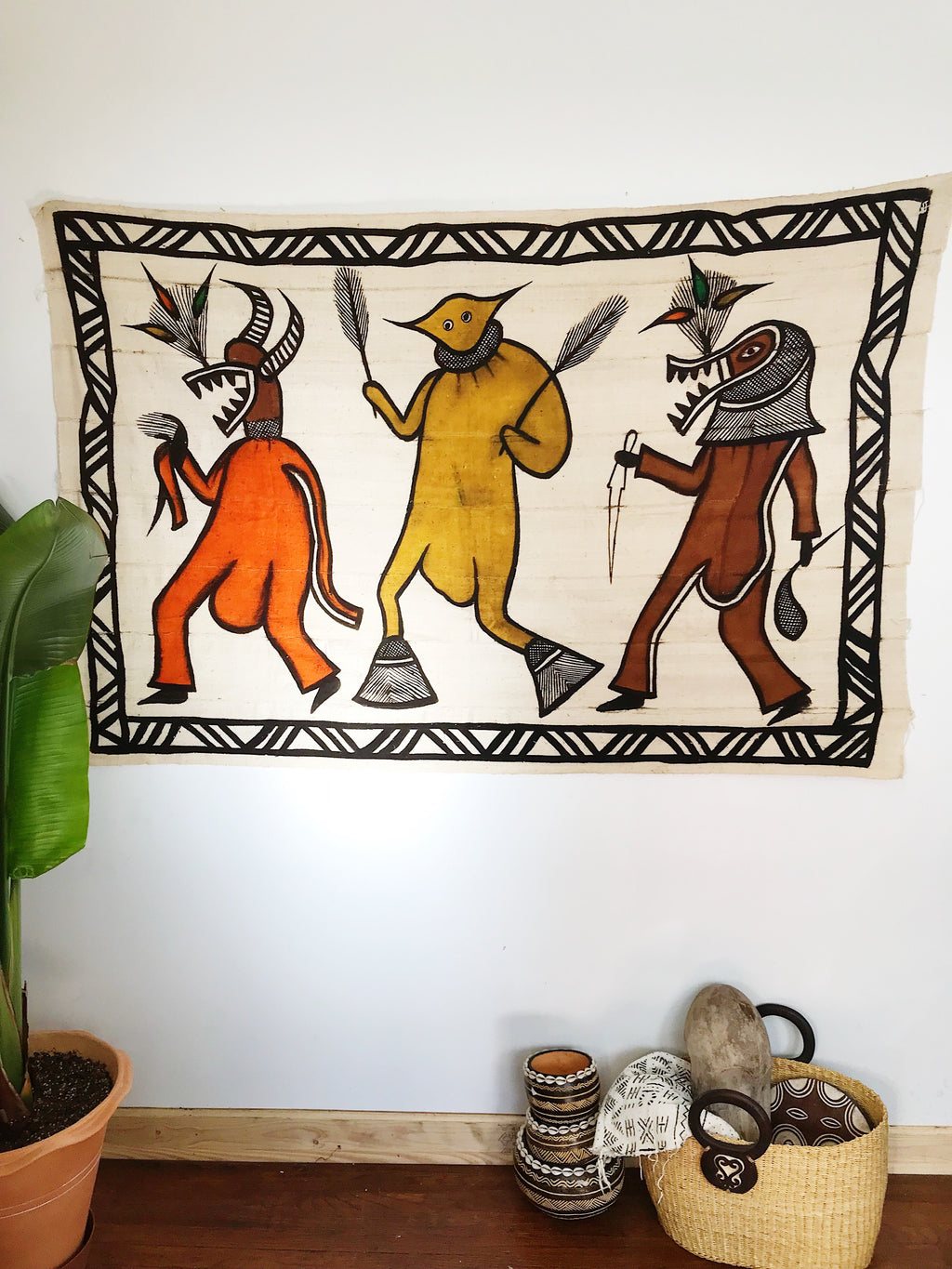 Ceremonial Dance // Korhogo Mudcloth Painting