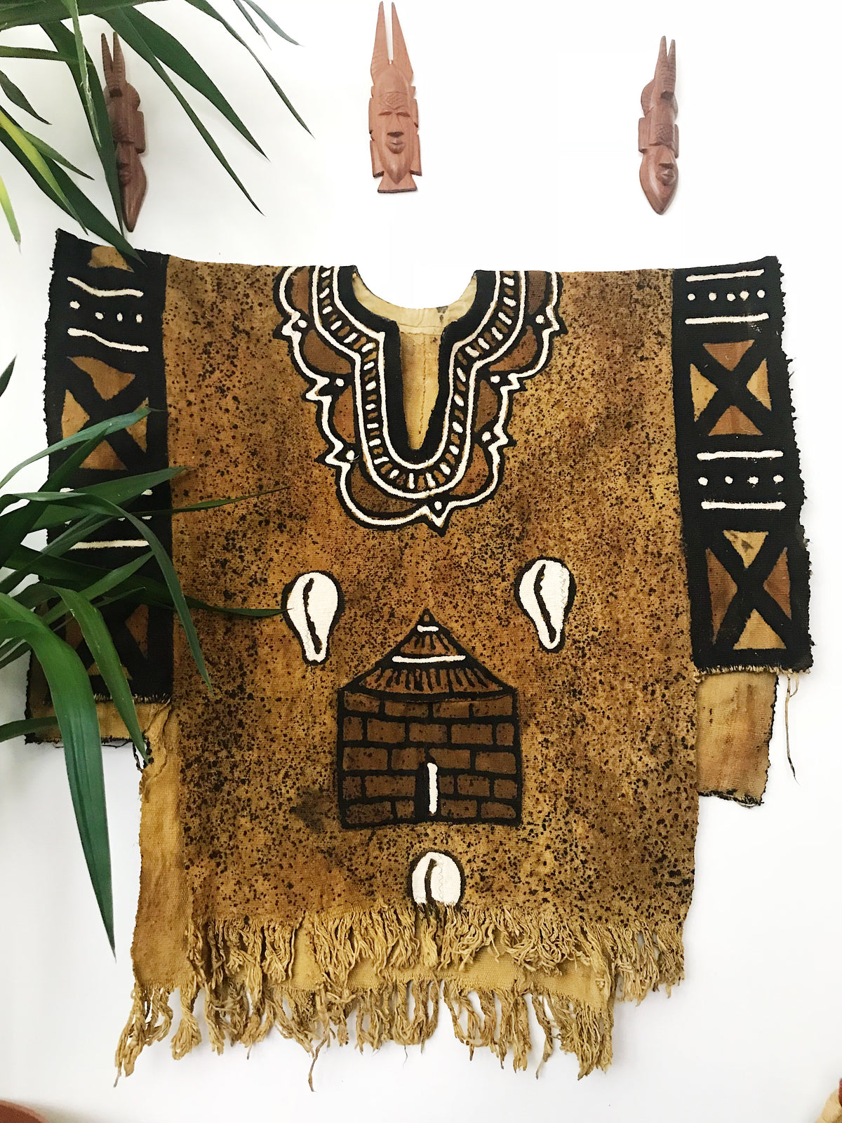 Cowrie Mudcloth Poncho