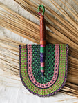 Savanna Wicker Fan // Green Multicolor #2