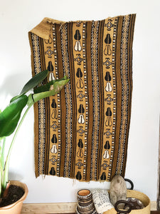 African Mudcloth Fabric // Tan + Brown