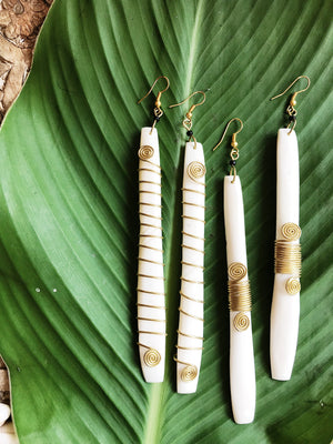 Ivory Flow Bone Earrings