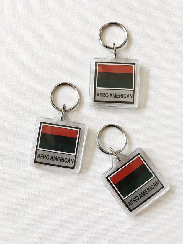 Afro American Key Chain