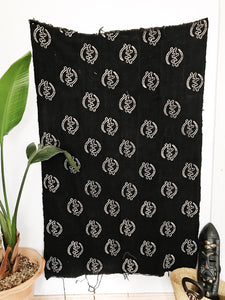 African Mudcloth Fabric// Black Gye Nyame