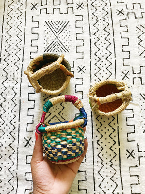 Tiny African Wicker Baskets