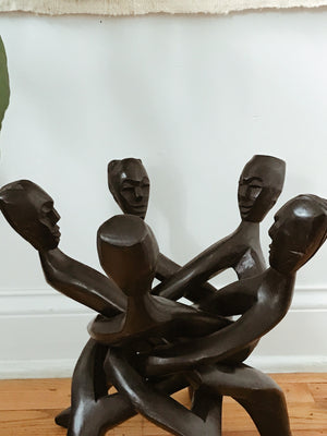 Five Headed African Unity Statue