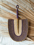 Vegan Savanna Wicker Fan // Purple + Gold