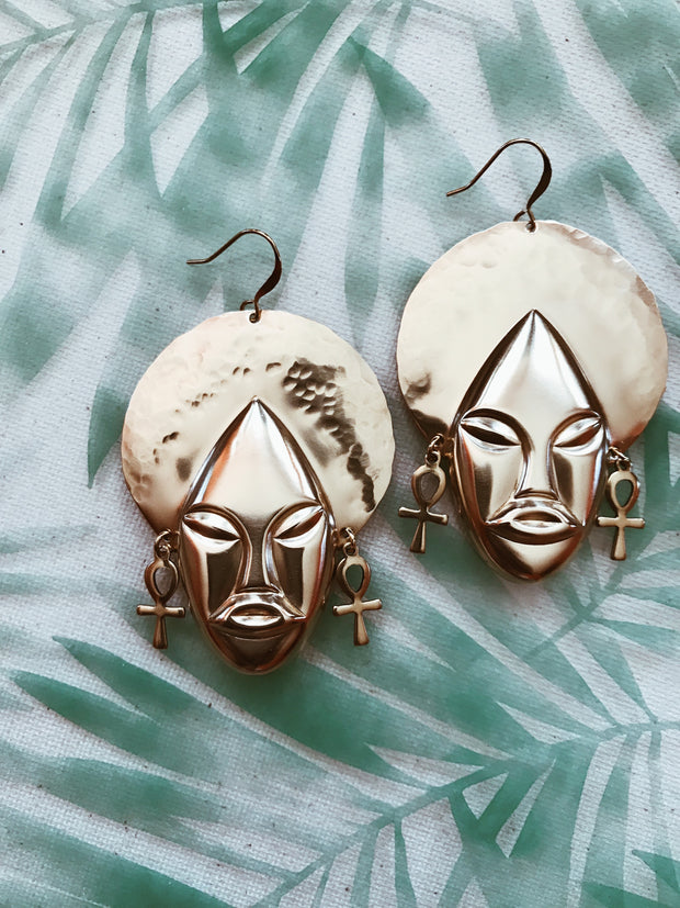 Nina Simon // Afro Queen Earrings