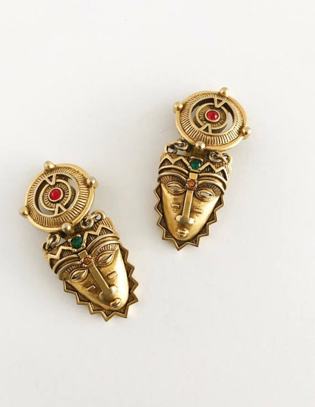 Mayan Mask Earrings