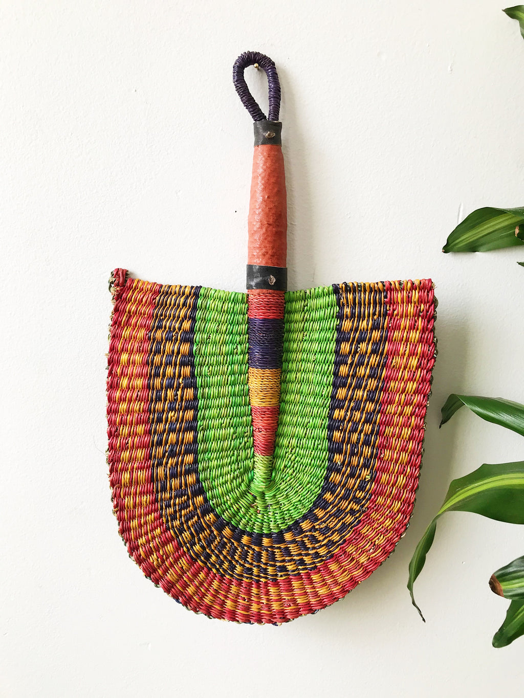 Savanna Wicker Fan // Lime Multicolor
