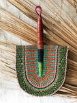 Savanna Wicker Fan // Green Multicolor