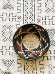 African Palm Basket// Navy + Brown