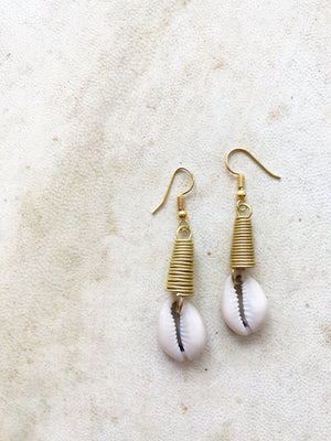 Mami Cowrie Earrings