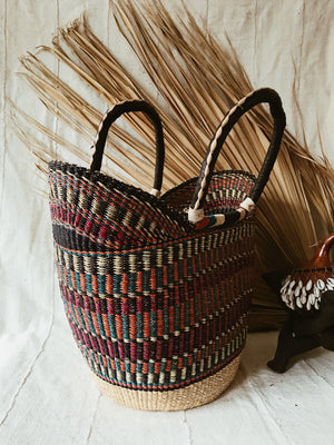 Woven African Market Tote // Multicolor