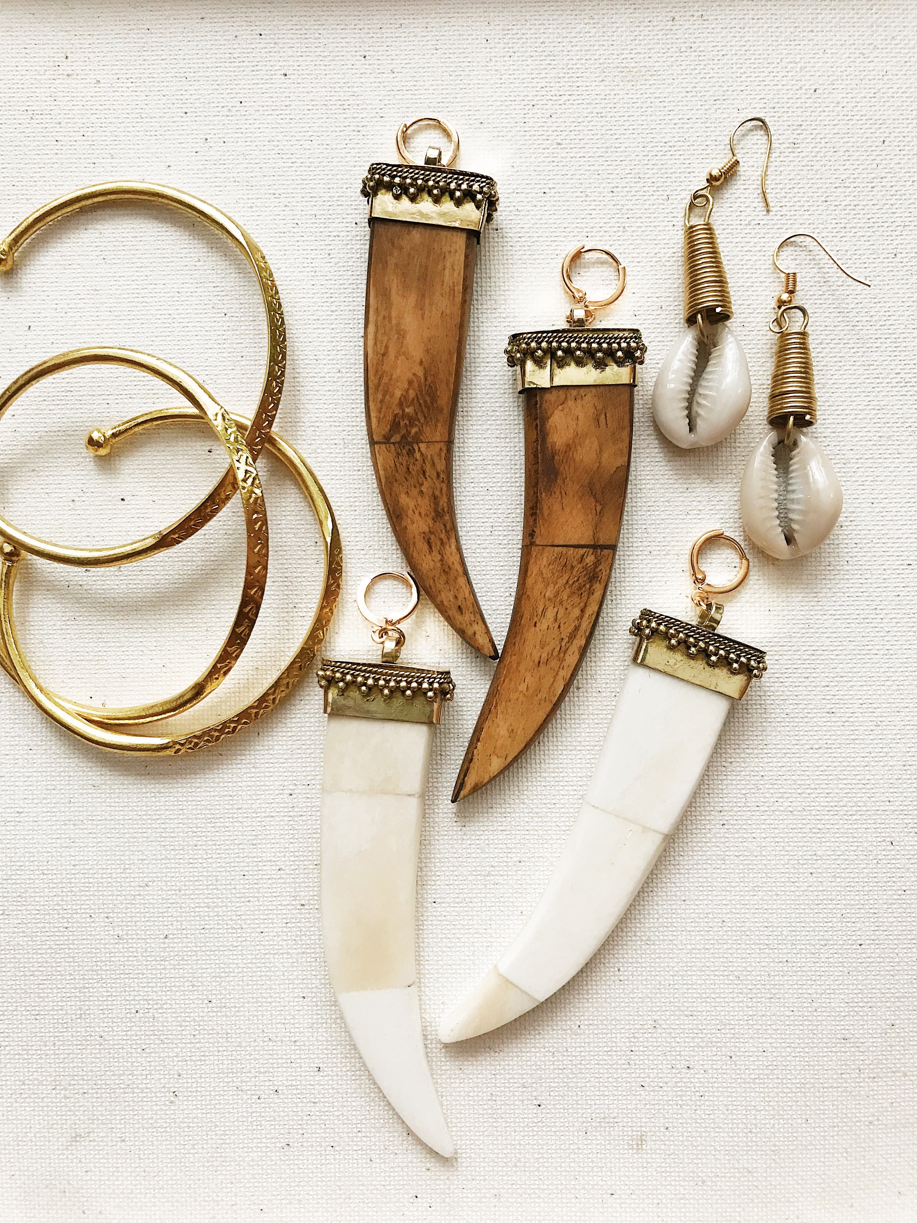 Wild Woman Tusk Earrings