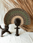 Ashanti Fertility Doll Fan// Navy + Green #3
