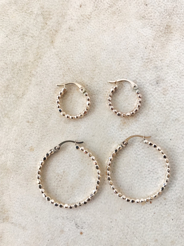 Gold Filled Bead Hoops