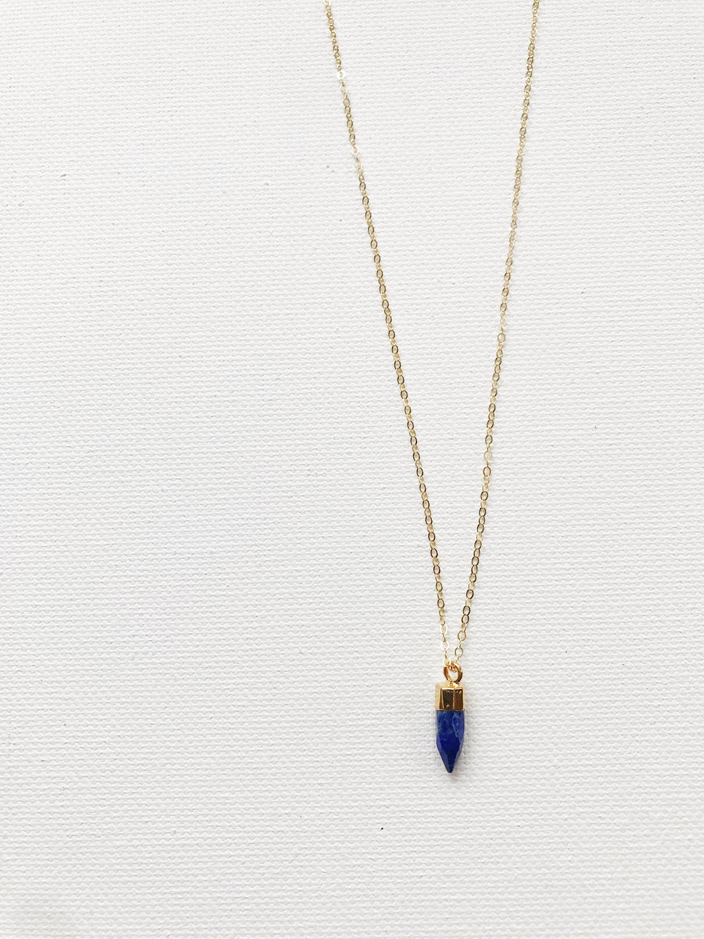 Tiny Lapis Charm Necklace