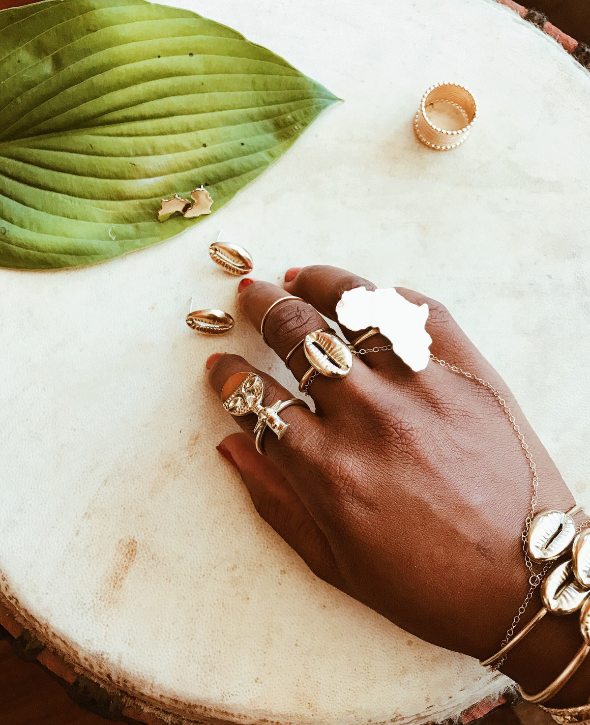 Oshun Cowrie Ring