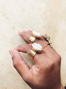 Cowrie Empire Ring