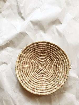 African Palm Basket// Natural