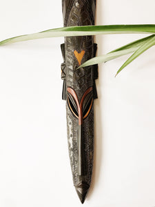 Long Ebony Fang African Mask I