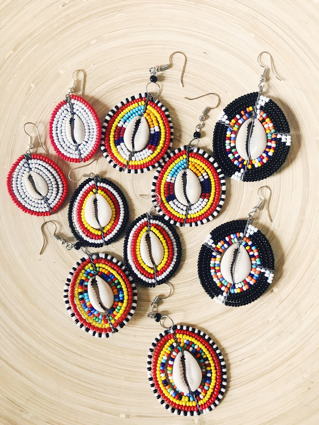 Kenya Cowrie Earrings