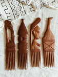 Wood Afro Comb