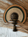 Ashanti Fertility Doll Fan// Orange & Green