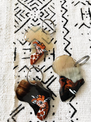 Africa Bone Key Chain
