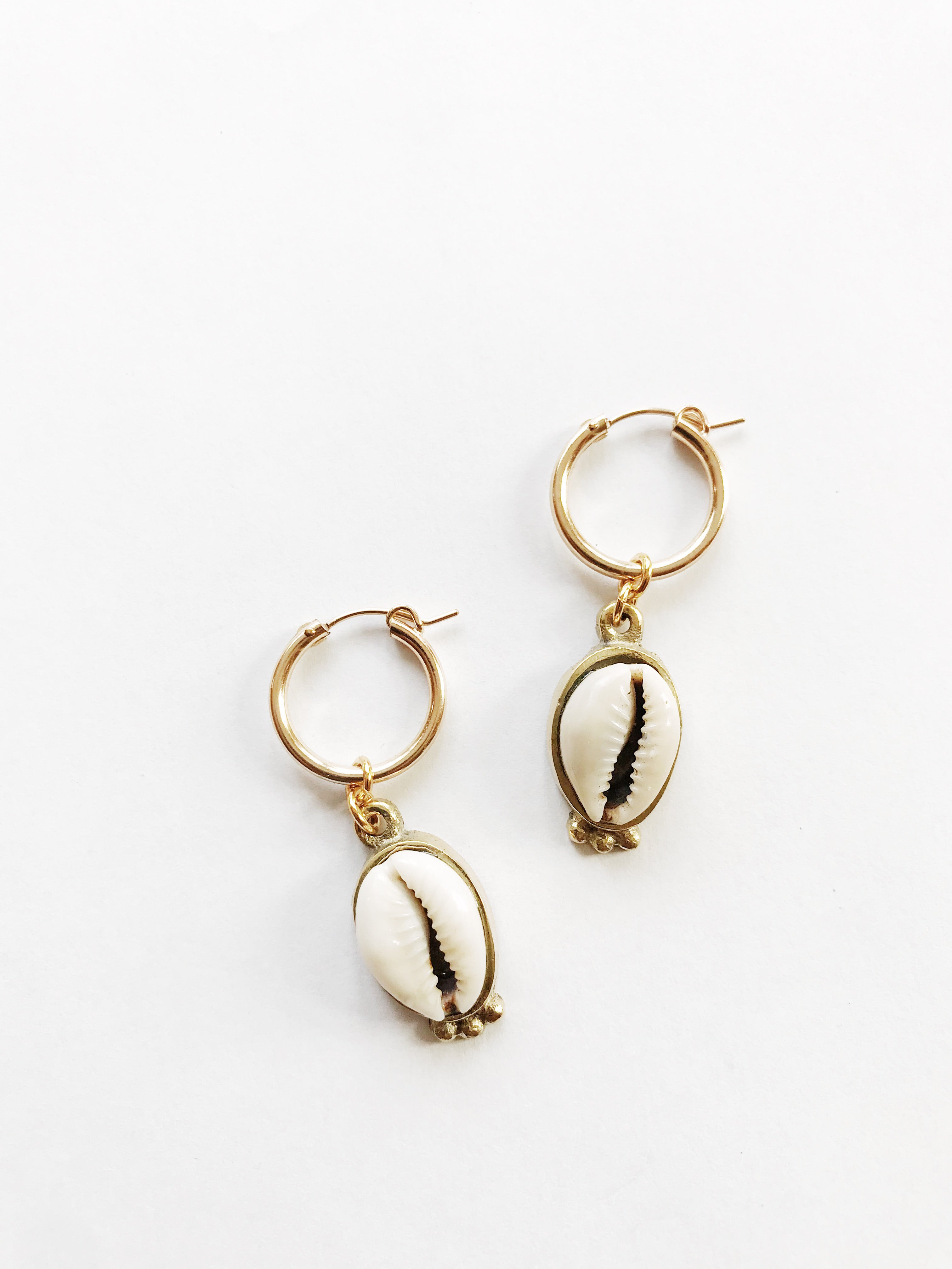 Sula Cowrie Hoops