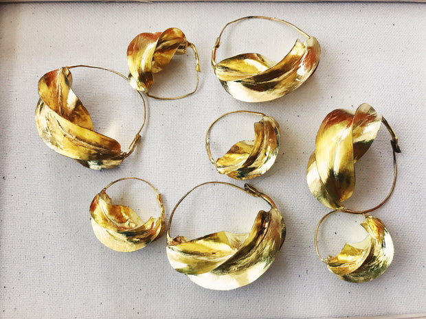 Fulani Hoop Earrings // Brass