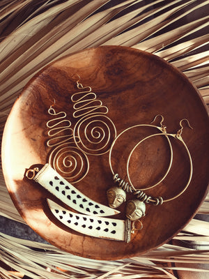 Alaafia Spiral Earrings