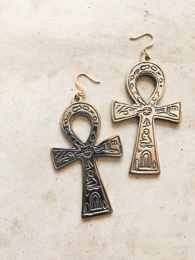 Master Key Ankh Earrings
