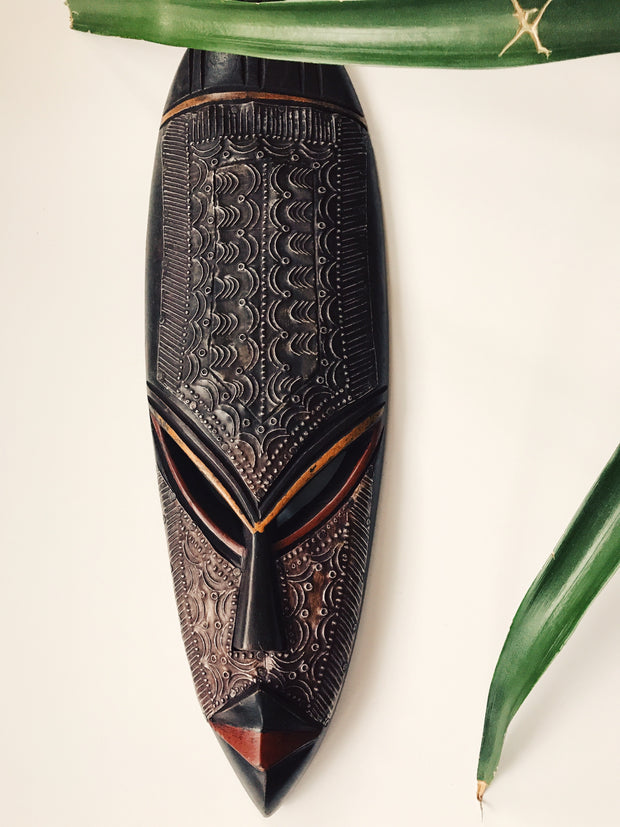Ebony Fang African Mask