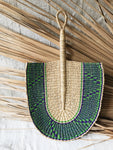 Vegan Savanna Wicker Fan // Natural + Green