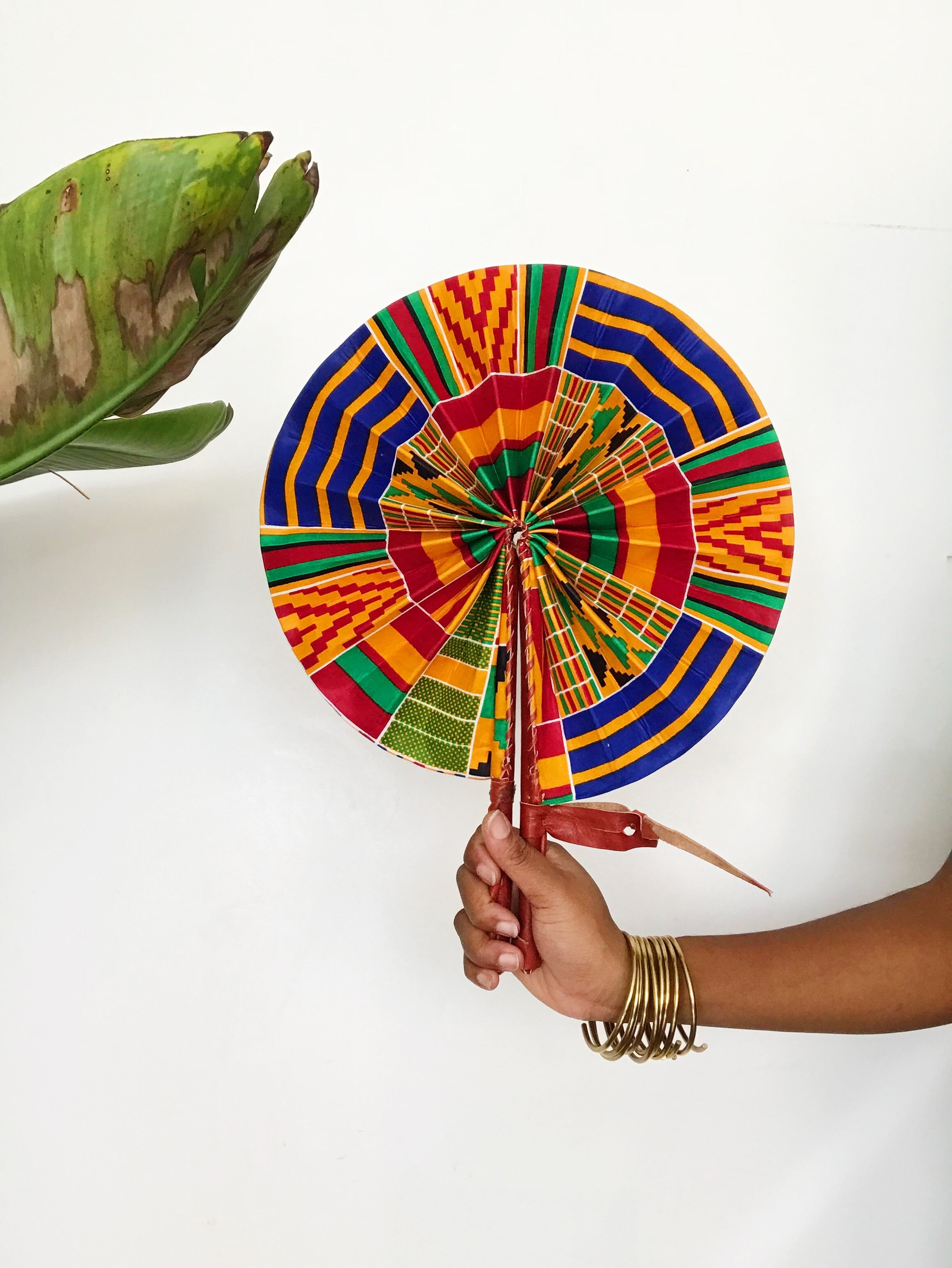 Fruit Punch// African Print Fan