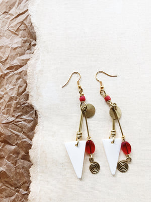 Candy Red Pomme Earrings
