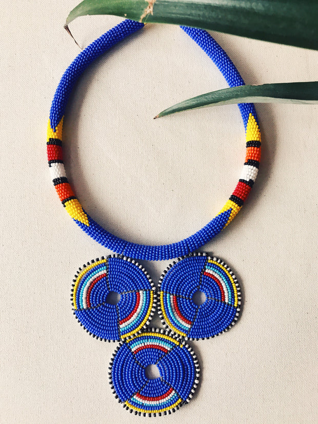 Trinity Maasai Necklace