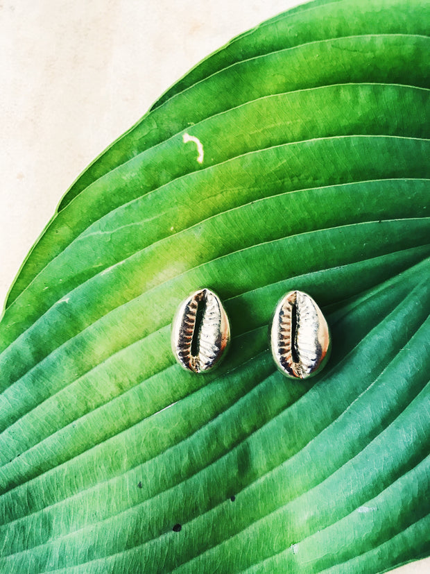 Oshun Cowrie Stud Earrings