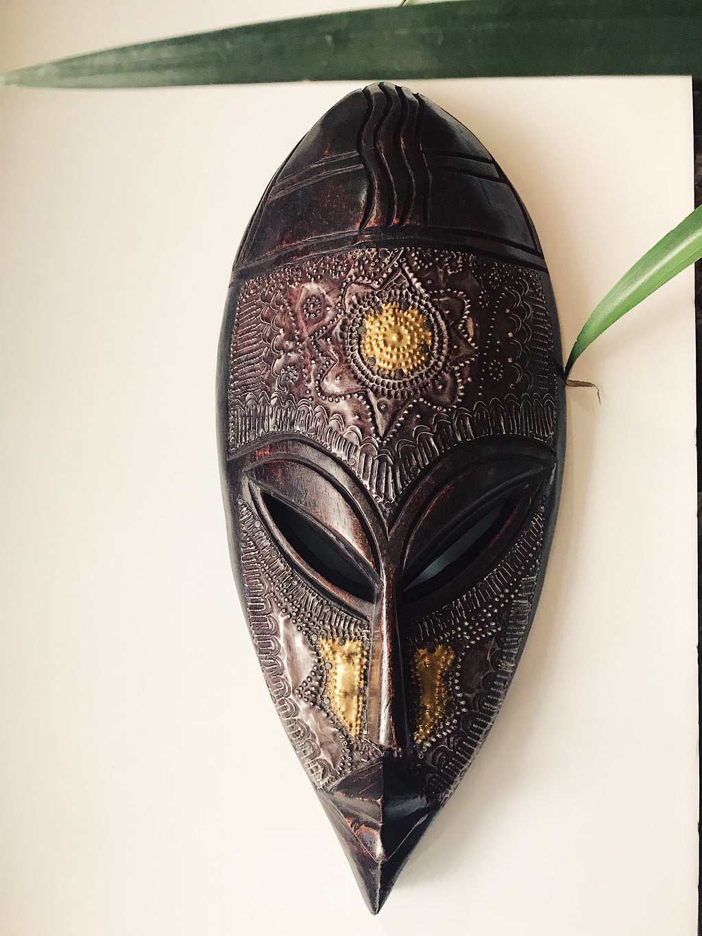 Wide Ebony Fang African Mask #2