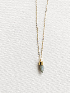 Tiny Labradorite Crystal Necklace